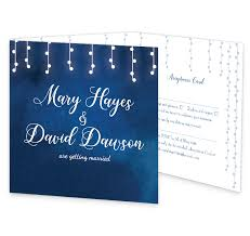Wedding Invitation Folding Starry Night Tri Fold Wedding Invite Rsvp Loving Invitations