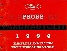 1994 ford probe electrical vacuum troubleshooting manual original
