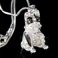 details about w swarovski crystal english french 3d bulldog american dog charm chain necklace