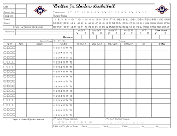 Basketball Score Sheets Printable Basketball Stat Sheet Template Vastuuonminun