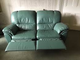 Sage Sofa sage green leather 2 seater recliner sofa mint condition in 6206 by guidejewelry.us