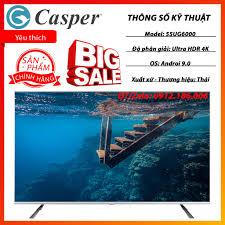 Android Tivi Casper 55 inch 55UG6000 (Model 2020) chính hãng (Liên hệ với  người bán để đặt hàng)