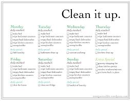 Weekly Household Chore List Weekly Chore List An Un Organized Life