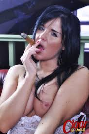 Cigar Glamour Michelle Hush Smoking A Fat Cigar Michelle Hush. Me ghaolmhara