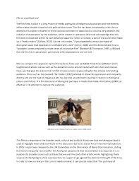 media analysis essay film