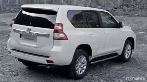 2014 Toyota Land Cruiser Prado rear three quarter - Indian Autos blog