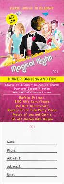 2 part raffle tickets birthday party raffle ticket