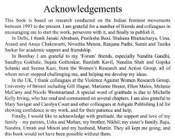 Guidelines For Writing Acknowledgement Sample