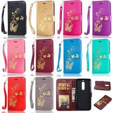 $2.33 - Gold <b>Butterfly Wallet Leather</b> Flip <b>Case Cover</b> For Nokia ...