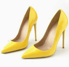 best ing patent leather high heel pumps fashion yellow pointed toe women party shoes y spring summer thin heels shoes bass shoes skechers shoes from