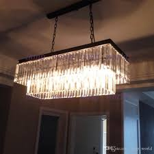 replica item industrial length 125cm 1920s odeon clear glass fringe awesome rectangular chandelier home decorating ideas