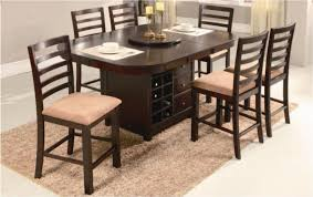dining table set with lazy susan. newman39s furniture round pub dining table wlazy susan with storage set lazy