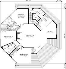 Vaulted Hexagonal Great Room  7888LD  Architectural Designs Hexagon House Plans