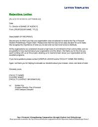 Rejection Email Template Decline Email Template Popular
