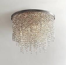 chandelier flush mount crystal ceiling light fixtures best lights images on