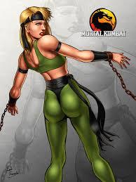 Sonya Blade chained by ZabZarock art of beautiful woman.