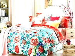 white with red flower bedding dkny set fl bright coloured duvet decorating pretty b