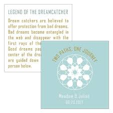 Dream Catchers Legend Stunning Dreamcatcher Legend Square Favor Card The Knot Shop