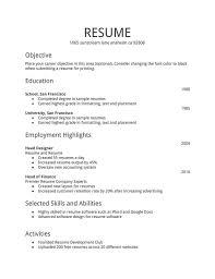 Standard Format For Resume Standard Format For Resume Piqqus Com