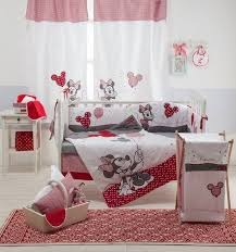 Home Accessory Baby Bedding Set Red Minnie Mouse Mouse Bedding Girl Crib Girl Mickey