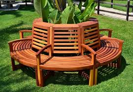 View in gallery Luna tree bench from Forever Redwood