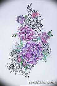 эскизы тату для девушек пионы 08032019 013 Tattoo Sketches
