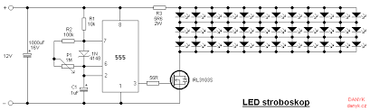 strobe light circuit diagram ireleast info strobe led stroboscope circuit diagram wiring circuit