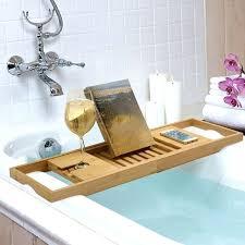 best wooden bamboo luxury bathtub storage rack shelf tidy tub tray holder caddy chrome bath clawfoot rustic bathtub tray wood