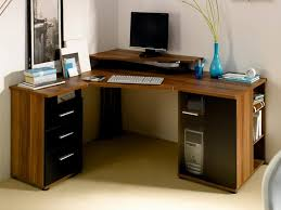 corner office desk wood. Office : Awesome Corner Desk Home Ideas Made From Hard Wood Materials Furniture D