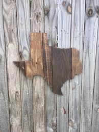 texas home decor pallet sign wood shape art reclaimed