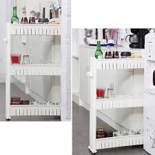 slim stocker 4 layers kitchen storage rack movable storage cart