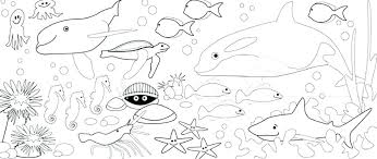 Ocean Animals Color Pages Animal Coloring Sheets Ocean Animals Coloring Pages Page Free