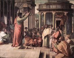 va raphael st paul preaching in athens 1515