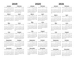 3 Year Calendar Printable Yearly Calendars Calendarsquick