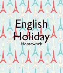 English holiday homework