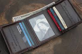 men s leather trifold wallet personalized leather wallet handmade leather wallet perfect gift for