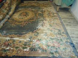 12x15 faded blue chinese aubusson wool area rug carpet hand knotted large estate