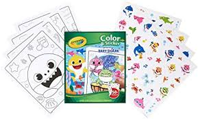 Supersimple.com has a host of baby shark activities you can do with your child. Amazon Com Crayola Baby Shark Coloring Pages And Stickers Gift For Kids Ages 3 4 5 6 Toys Games
