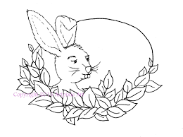 Easter Bunny In Leafy Oval Frame