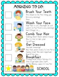 Chart For School Homeschool Morning To Do Resposibility Chart