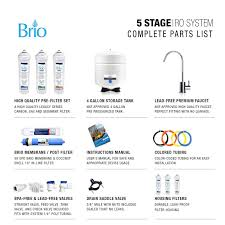 How To Change Reverse Osmosis Filters Brio Quick Change 5 Stage Reverse Osmosis Water Filter Ro