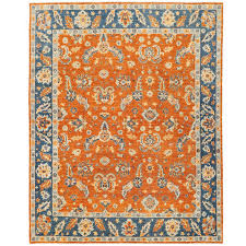 afghan hand knotted vegetable dye oushak wool rug 8 x 10
