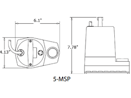 little giant 5 msp 1 6 hp 1200 gph submersible utility pump liberty pumps 257 vmf