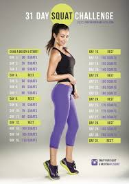 7 Day Squat Challenge Chart 30 Day Squat Challenge Or We Know How To Do It