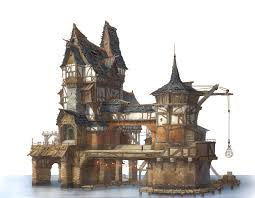 ArtStation - Private house in the lake village, Jung yeoll Kim