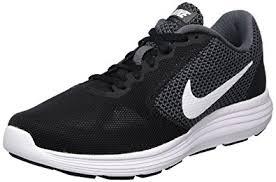 nike running shoes all white. nike women\u0027s revolution 3 running shoe, dark grey/white/black, 8 b nike shoes all white n