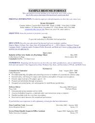 Easy Resume Samples Basic Template Free Examples Format Templates Of ...