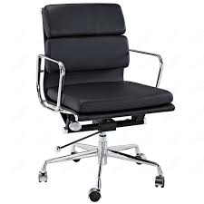 full size of seat chairs appealing black office chair padded back and seat leather bedroomsweet eames office chair replicas style