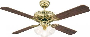 westinghouse ceiling fan monarch trio polished brass 132 cm 52 with lights