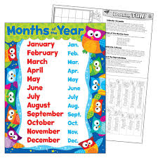Learning Chart Owl Months Of The Year Learning Chart T 38448